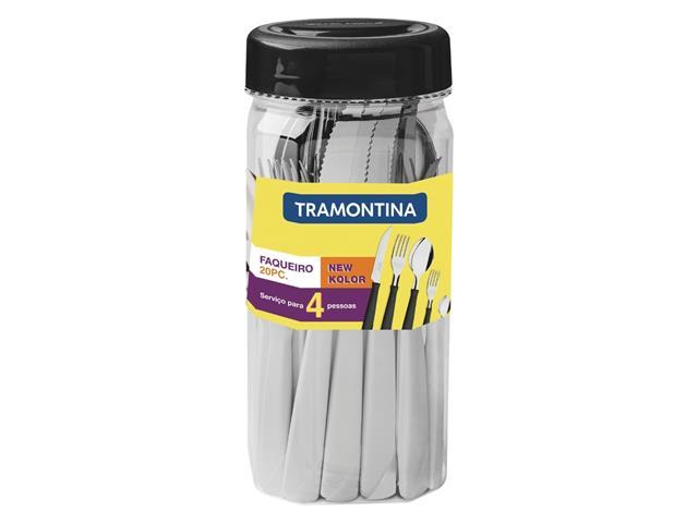 Jogo de Talheres Tramontina New Kolor Branco 20 Peças - 1