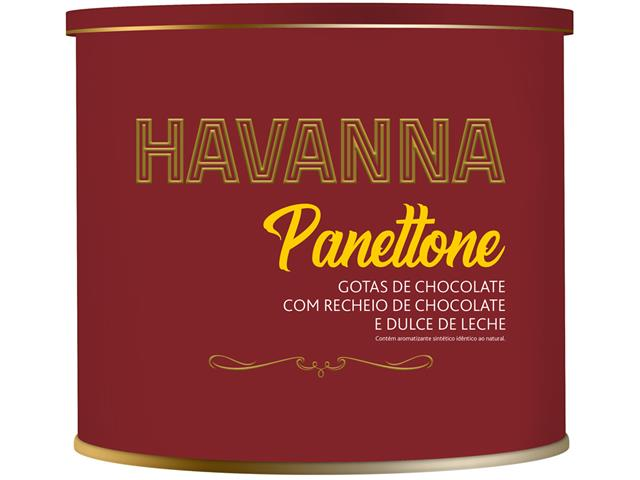 Panettone Havanna Lata Duplo Recheio Chocolate e Doce de Leite 700G - 3