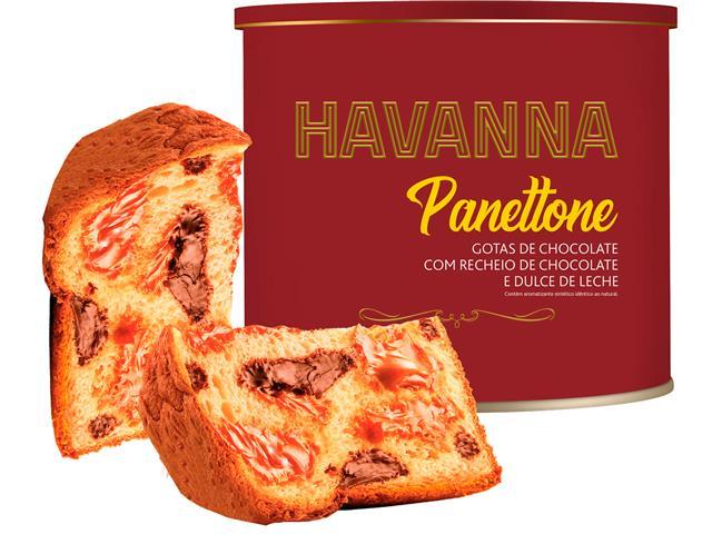 Panettone Havanna Lata Duplo Recheio Chocolate e Doce de Leite 700G