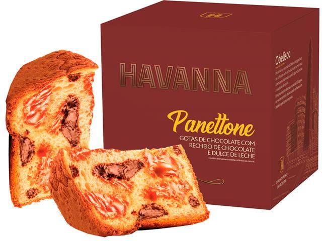 Panettone Havanna Duplo Recheio Chocolate e Doce de Leite 700G