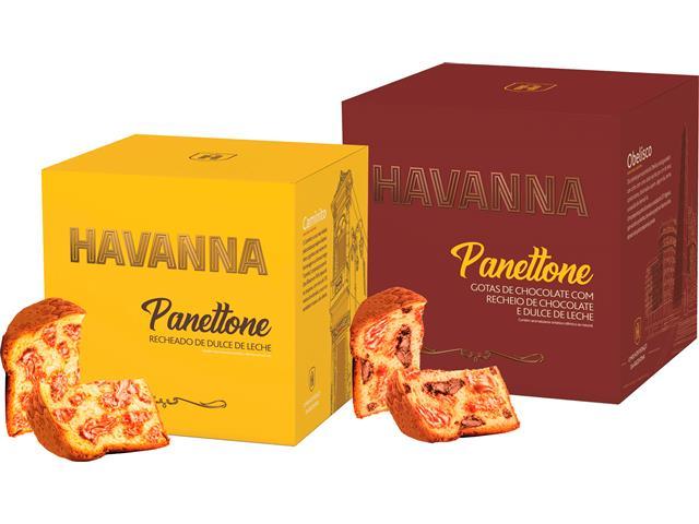 Combo Panettone Havanna Duplo Recheio e Doce de Leite 700G Cada