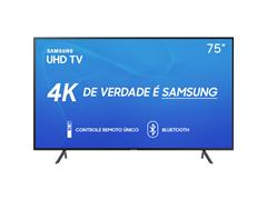 Smart TV LED 75 Samsung Ultra HD 4K HDR c/Conv.TV Digital 3 HDMI 2USB