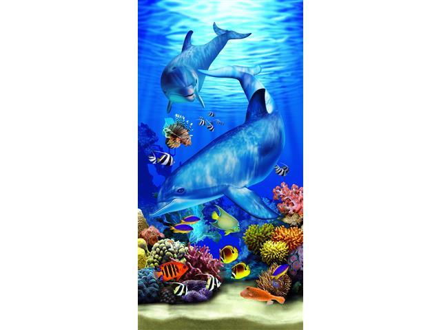 Toalha de Praia Aveludada Buettner Golfinhos