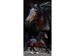 Toalha de Praia Buettner Resort Aveludada Cavalos Marrons