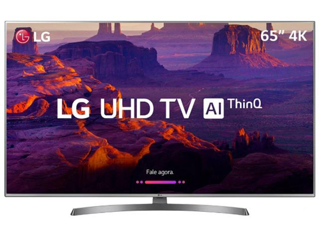 "Smart TV LED 65"" LG Ultra HD 4K ThinQ AI TV HDR webOS 4.0 4 HDMI 2 USB"