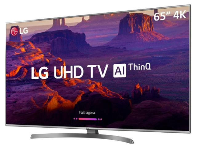 "Smart TV LED 65"" LG Ultra HD 4K ThinQ AI TV HDR webOS 4.0 4 HDMI 2 USB - 1"