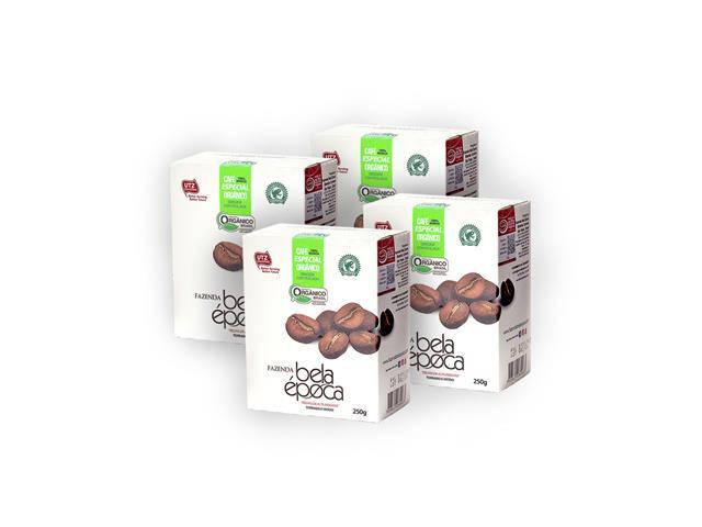 Combo Café Orgânico Bela Época Moído 250g (4 unidades)