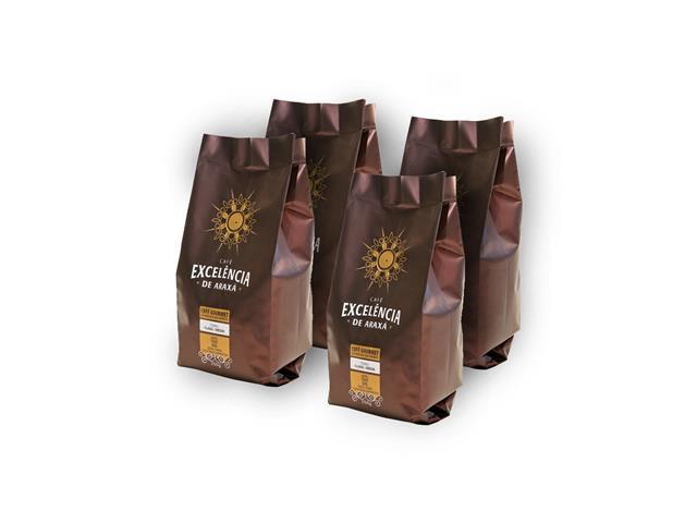 Combo Café Excelência de Araxá Gourmet em Grãos 250g (4 unidades)