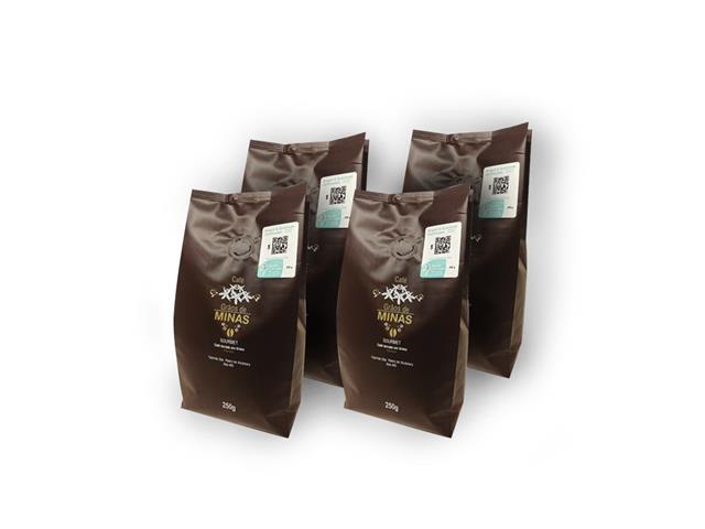 Combo Café Grãos de Minas em Grãos 250g (4 unidades)