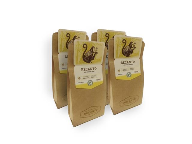 Combo Café Recanto em Grãos 250g (4 unidades)