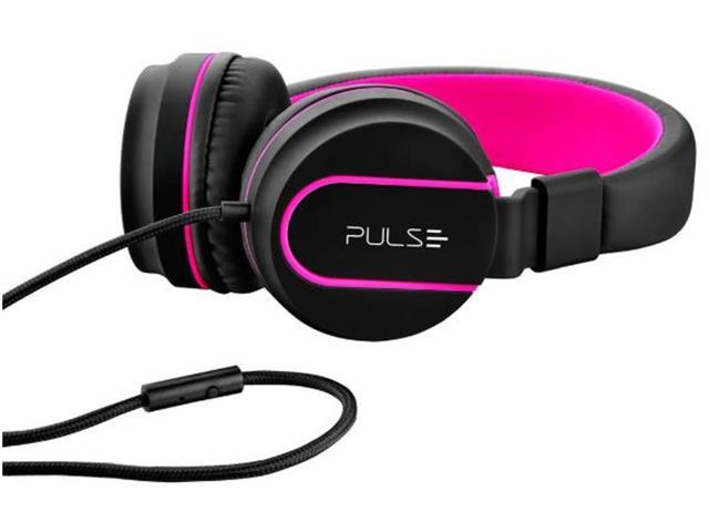 Fone de Ouvido Multilaser Pulse Fun Series Preto e Rosa