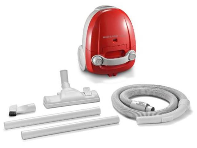 Aspirador de Pó Multilaser com Alcance de 3 Mts Vermelho 1400W 110V - 3