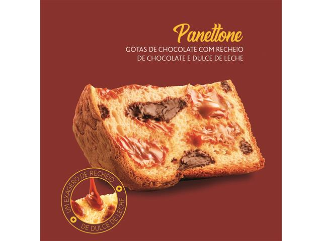 Combo 2 Panettone Havanna Lata Duplo Recheio e Gotas de Chocolate 700G - 8