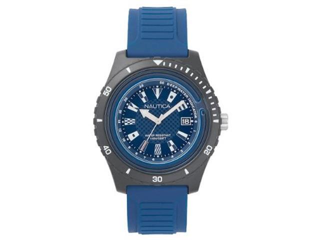 f189f3fe5bc Relógio Nautica Masculino Borracha Azul - Napibz008