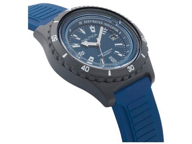 Relógio Nautica Masculino Borracha Azul NAPIBZ008 - 2
