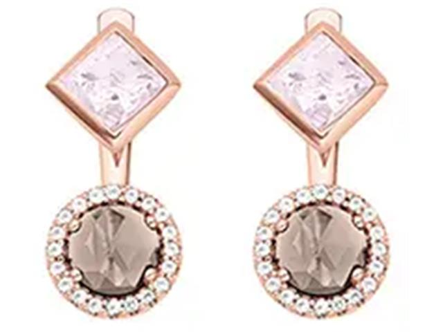 Brinco Vivara Life My Stone Rosé Quartzo Rosa e Topázio
