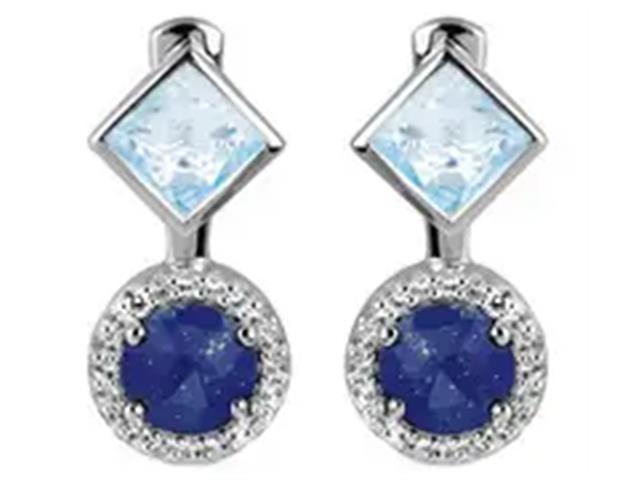 Brinco Vivara Life My Stone Lápis Lazuli e Topázios