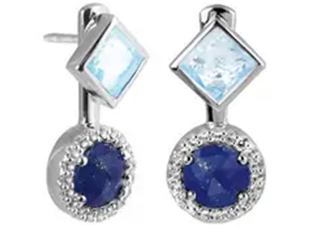 Brinco Vivara Life My Stone Lápis Lazuli e Topázios - 1