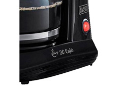 Cafeteira c/ Jarra de Vidro para 30 Cafés Black&Decker Preta - 1