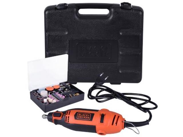 Kit Micro Retífica 180W Black & Decker com 113 Acessórios