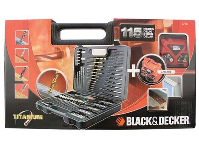 Jogo de Perfuração e Parafusamento c/ Laser Black & Decker 115 Peças - 3