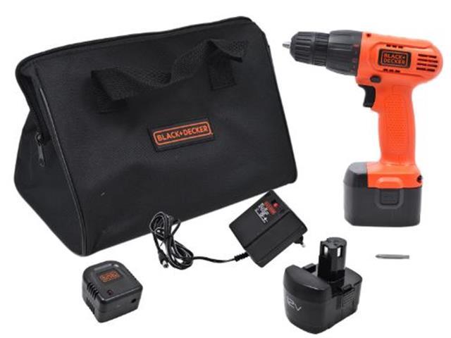 Furadeira Parafusadeira Black & Decker com 2 Baterias e Bolsa