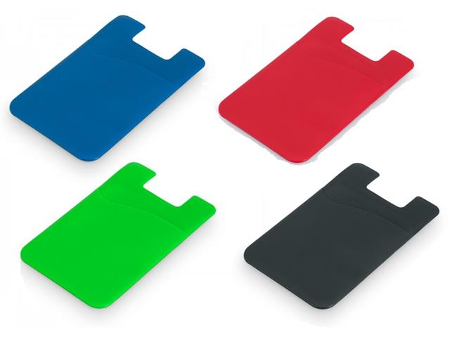 Porta Cartões em Silicone para Smartphone Sortido