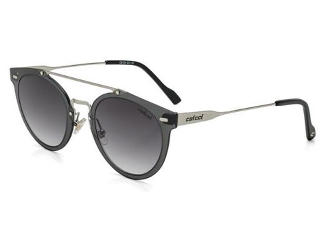 Óculos de Sol Colcci Preto com Dourado com Lente Cinza Degradê