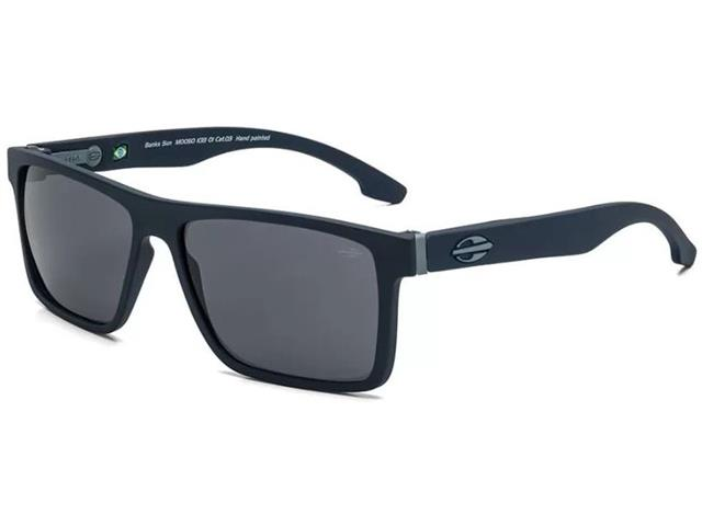 Óculos de Sol Mormaii Banks Azul Escuro Fosco com Lente Cinza