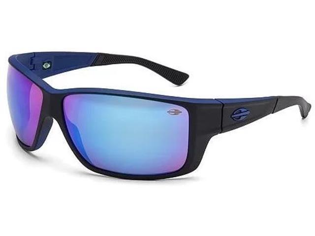 Óculos de Sol Mormaii Joaca iii Preto e Azul com Lente Azul Espelhada