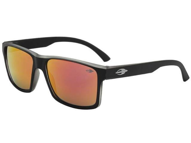 Óculos de Sol Mormaii Lagos Preto Fosco com Lente Cinza Flash Vermelho dc9e60a50f