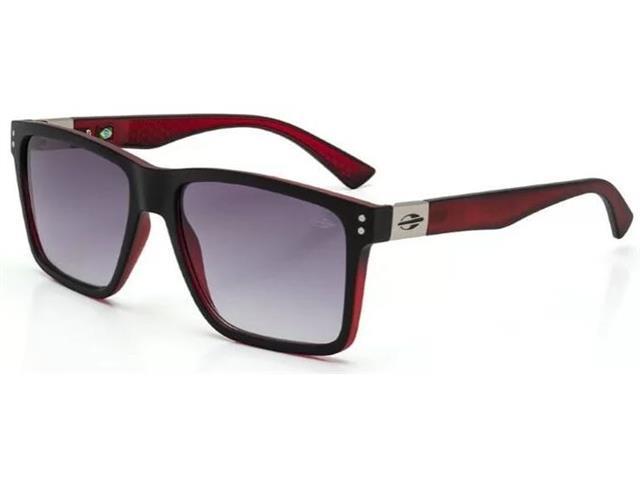 Óculos de Sol Mormaii Cairo Preto e Vermelho com Lente Cinza Degradê 1440ac2347
