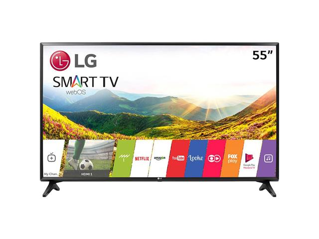 "Smart TV LED 55"" LG Ultra HD 4K ThinQ AI TV HDR webOS 4.0 4 HDMI 3 USB"