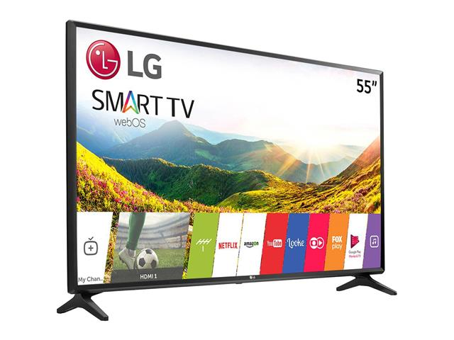 "Smart TV LED 55"" LG Ultra HD 4K ThinQ AI TV HDR webOS 4.0 4 HDMI 3 USB - 1"
