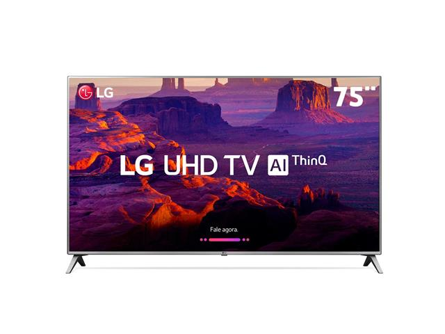 "Smart TV LED 75"" LG Ultra HD 4K HDR Ativo TV Digital webOS 4 HDMI 2USB"
