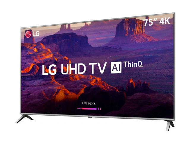 "Smart TV LED 75"" LG Ultra HD 4K HDR Ativo TV Digital webOS 4 HDMI 2USB - 1"