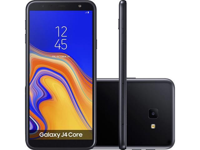 "Smartphone Samsung Galaxy J4 Core 16GB Duos 4G Tela 6"" Câm. 8MP Preto"