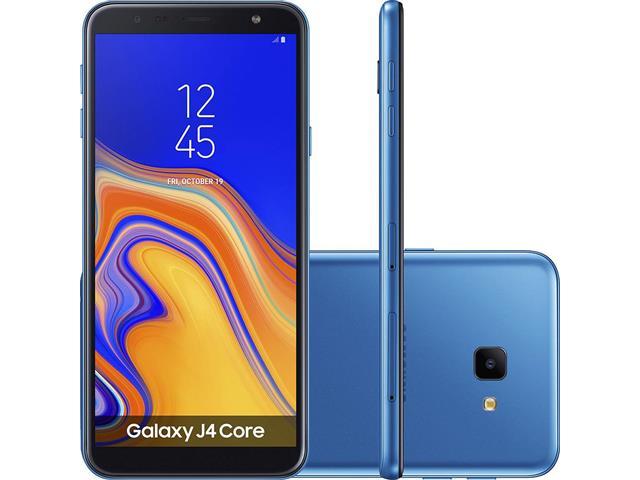 "Smartphone Samsung Galaxy J4 Core 16GB Duos 4G Tela 6"" Câm. 8 MP Azul"