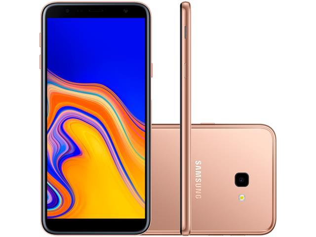 """Smartphone Samsung Galaxy J4+ 32GB Duos 4G Tela 6"""" Câm. 13MP+5MP Cobre"""