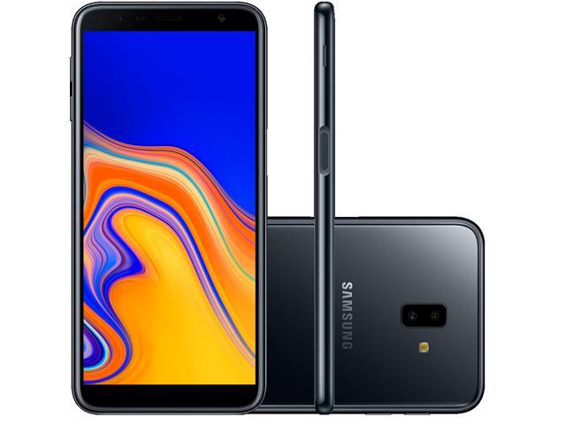 "Smartphone Samsung Galaxy J6+ 32GB Duos 4G Tela 6"" Câm. 13MP+8MP Preto"