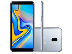 "Smartphone Samsung Galaxy J6+ 32GB Duos 4G Tela 6"" Câm. 13MP+8MP Prata"
