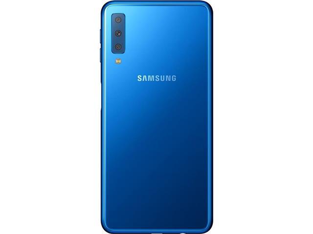 "Smartphone Samsung Galaxy A7 2018 64GB Duos 4G Tela 6"" Câm. 24MP Azul - 3"