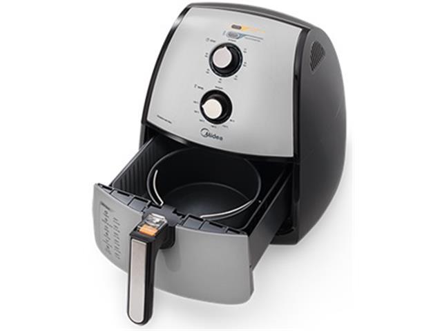 Fritadeira Elétrica  Midea sem Óleo Prata 4L - 1