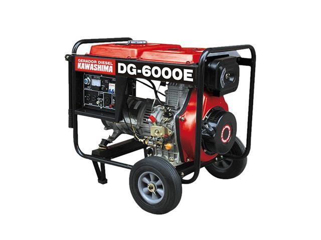 Gerador DG-6000E diesel 5,0kw motor 10hp 406cc