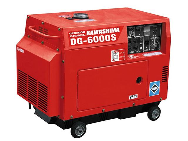 Gerador DG-6000S diesel 5,0kw fechado mot 10hp 406cc