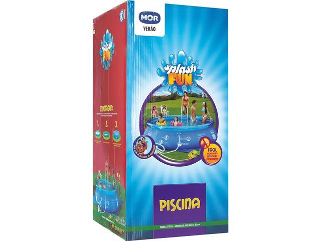 Piscina Inflável MOR Splash Fun 9000 Litros 390x90 cm - 1