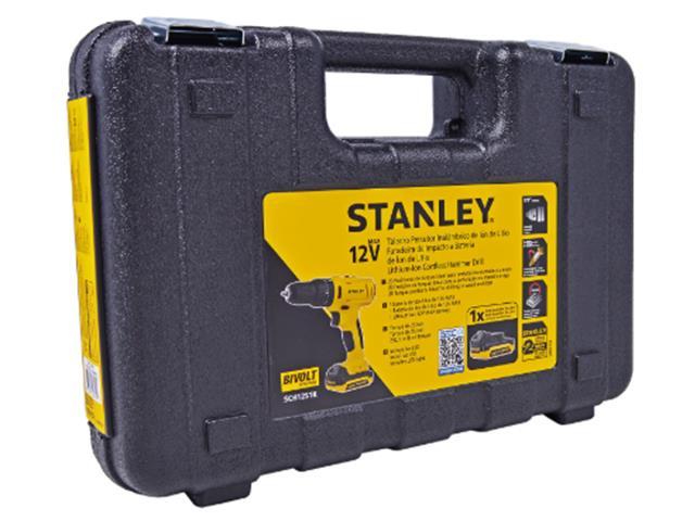 Parafusadeira Furadeira Impacto Bateria 12V Stanley com Maleta Bivolt - 4