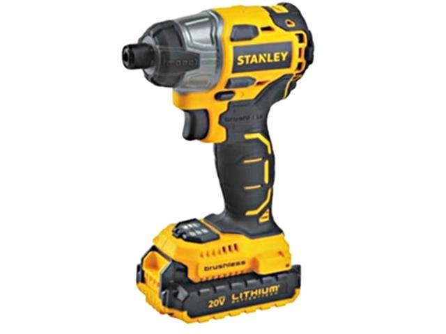 """Parafusadeira de Impacto Brushiless 1/4"""" Stanley com 2 Baterias Bivolt"""