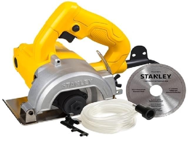 Serra Mármore 4.1/2 Pol. Stanley 1200W com Refrigeração e Disco 110V