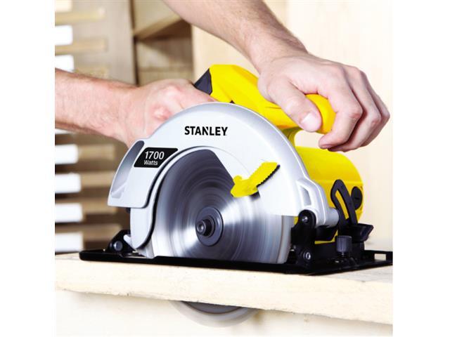 """Serra Circular de 7-1/4"""" Stanley 1700W com Bolsa de Nylon 110V - 1"""